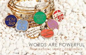 """Alex&Ani """"inspirational words"""" bracelets"""